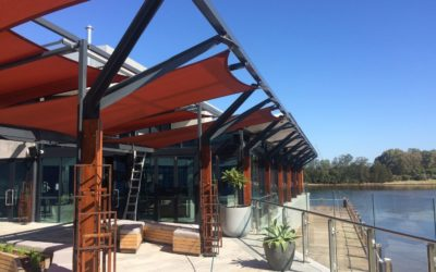 Promat Cafco® SPRAYFILM WB3 applied to an outdoor steel structure.